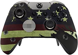 American Flag Rapid Fire Custom Modded Controller Compatible with Xbox One Elite 40 Mods for All Major Shooter Games, Auto Aim, Quick Scope, Auto Run, Sniper Breath, Jump Shot, Active Reload & More