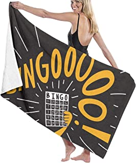 Huozhede Dem Bingo Funny Design Beach Towel Beach Towels for Travel Tropical & Boho Beach Towel Prints for Beach Travel Cruise Outdoor Thick and Plush Striped