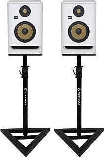 "(2) KRK ROKIT RP5 G4 5"" Studio Monitor DSP Speakers White Noise Edition+Stands"