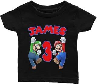 Personalize Super Mario Birthday Shirt
