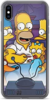 Horseshoe's Compatible with iPhone X/XS Case The Simpsons Family Watch Television Pure Clear Phone Cases Cover
