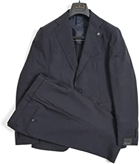 [タリアトーレ] TAGLIATORE テーラード スーツ 2Bシングル メンズ 春夏 SUPER 100'S ヴァージンウール 100% ストライプ ダーク ネイビー 濃紺 イタリア ブランド ビジネス 【並行輸入品】