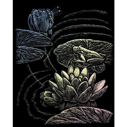 ROYAL BRUSH Holographic Foil Engraving Art Kit, 8 by 10-Inch, Frog Pond
