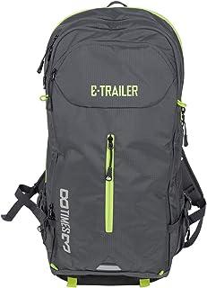 Mochila para bicicleta eléctrica, ideal para transportar baterías de bicicleta eléctrica, para el trabajo o el tiempo libre, color negro y verde neón