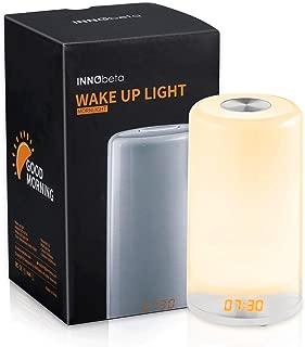 Wake Up Light, Sunrise Alarm Clock, Natural Sunlight Lamp with Sunrise Simulation, Colored LED Night Light, Snooze Function for Heavy Sleepers -INNObeta Mornlight