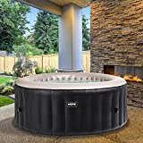 WAVE Spas Atlantic Inflatable Hot Tub, A Portable Inflatable Quick Heating Round Hot Tub Spa Indoor/Outdoor Bubble Jacuzzi plus Powerful Heater/Compressor, Up to 4 Persons