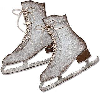 Briartw Matrice de découpe en métal en forme de chaussures d'hiver pour la fabrication de cartes, le gaufrage, les travaux...