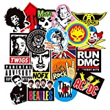 100 pezzi - (rock band) adesivi valigia, retro vintage stickers per valigia, chitarra, pc portatili, auto moto, bicicletta, skateboard, snowboard