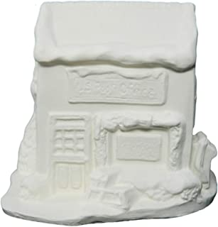 Christmas Village Post Office ~ Unpainted Ceramic Bisque ~ Hand Poured in The USA