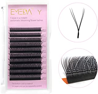 ded6f45cd77 Volume Eyelash Extensions Y-shape C Curl 0.07mm Mixed Tray 2D Individual  Lashes Supplies