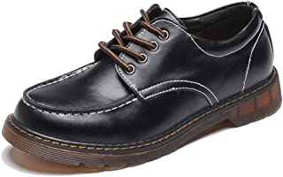 Men's Chic Oxford Nonchalant Classic Cycle Head Outsole Low Top Workwear Shoes casual shoes (Color : Black, Size : 35 EU)