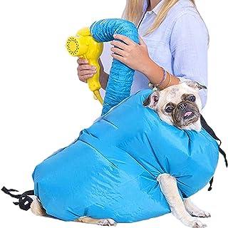 ペット乾燥箱 バスグッズ お風呂後 速乾 通気 軽量 猫 犬 兼用 乾燥ケース 毛深い犬 コーギー 柴犬 ゴールデンレトリバーペット乾燥袋 鹿皮タオルを一本送り ドライヤー付かない (M)