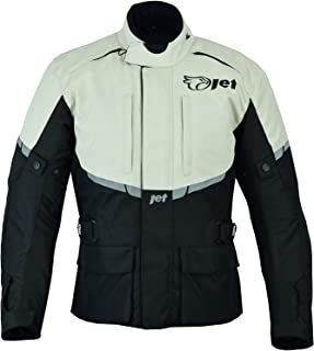 JET Motorcycle Motorbike Jacket Mens Textile Waterproof CE Armoured Tourer