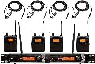 4 Bodypacks in Ear Monitor Headset Professional Stage School Iglesia Sistemas de micrófono inalámbrico