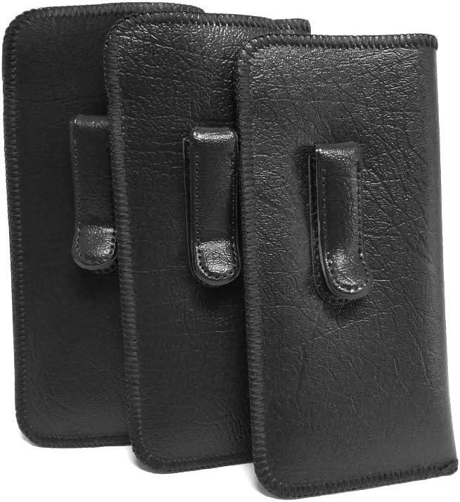 Mens Soft Slip-in Case w/Metal Clip Medium Sized in Black (3 Pack)