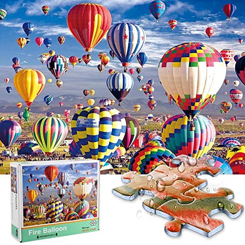 JOLIGAEA Puzzle 1000 Piezas, Rompecabezas Adultos, Globo Aerostático Puzzle, Decoración Hogareña, Juguete Educativo Intelectual de descompresión Divertido, Regalo para Niños Adulto