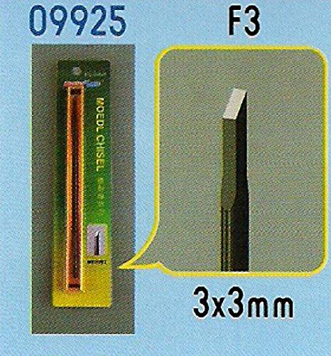 Trumpeter 09925 Gereedschap: F3 beitel, 3 x 3 mm