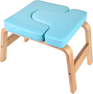 Puluomis Yoga Headstand Bench Stand Yoga Chair for Family, Gym - Wood and PU Pads