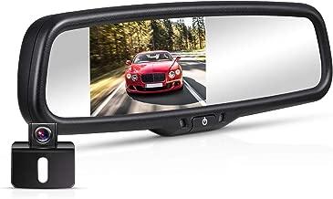 BOSCAM K4 Backup Camera Kit, 170° Waterproof Back Up Car Camera with 4.3″LCD Rearview Mirror Monitor
