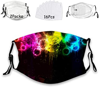 Mens Womens Unicorn pattern Anti Dust Mouth Adjustable With 16 Filter 2Pack Adult Youth