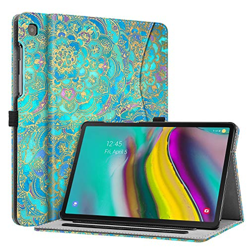 FINTIE Case for Samsung Galaxy Tab S5e 10.5 2019 (SM-T720 / T725), Multi-Angle Viewing Stand Cover with Pocket Auto Sleep/Wake Feature, Shades of Blue
