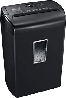 Bonsaii 10-Sheet Cross-Cut Paper Shredder, Credit Card Shredders for Home Office Use, 5.5..