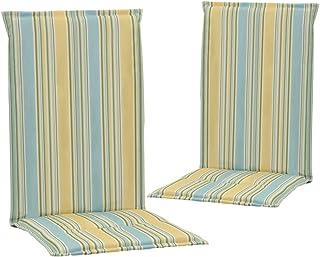 Festnight Cojines de Sillas Jardín 2 uds Cojines Decorativos para Sillas Estampado Multicolor 120x50x3 cm