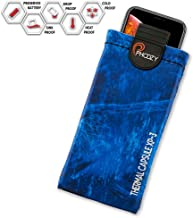 PHOOZY XP3 Series, Rugged Thermal Phone Case - Prevent Phone from Overheating in The Sun, Fits iPhone 8/X/XR/11 Pro, Galaxy S8/S9/S10, and Similar Sized Phones [Plus - Marlin Blue]