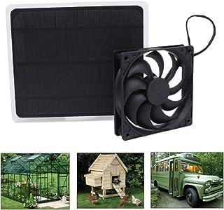 NONE Ventilador Alimentado por Panel Solar Mini Ventilador Extractor Solar para Invernadero de Casa de Árbol RV Chicken House