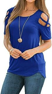 NewView Sexy Schulterfrei Oberteil Damen Kurzarmshirt Bluse FüR Damen Tshirt Bluseshirt Dirndlbluse Bluse Oberteile Casual T-Shirt