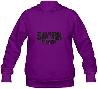 Shark Week Nerdy 100% Cotton Long Sleeve Hoodie For Adult