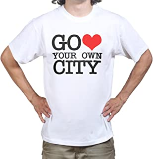 Go Heart Love Your Own City New York T-Shirt White 3XL