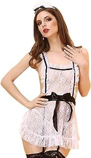 Queen.M Lace Lingerie Maid Uniform Apron Fancy Dress Costume