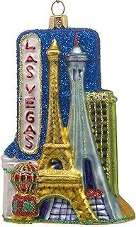 CDL 5 inches Las Vegas Ornament Souvenirs Christmas Ornaments Travel Memorabilia Glass Blown Glass Ornaments (5