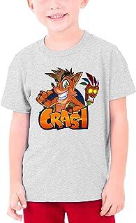 maichengxuan Crash Bandicoot - Camiseta de cuello redondo para jóvenes de algodón fresco, elegante y cómoda camiseta de cu...