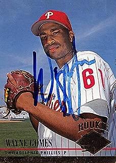 Autograph Warehouse 244732 Wayne Gomes Autographed Baseball Card - Philadelphia Phillies44; FT 1994 Fleer Ultra Rookie - No. 547