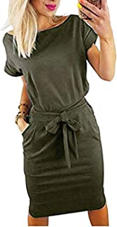 Women's Striped Elegant Short Sleeve Wear to Work Casual...