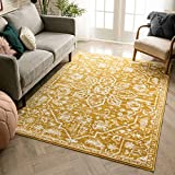 Well Woven Della Gold Vintage Medallion Pattern Area Rug 5x7 (5'3' x 7'3')