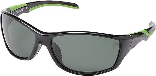 Shiny Black/Green Polarized