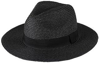 NYDZDM Sombrero de sol de los hombres al aire libre de viaje protector solar plegable ancho a lo largo del sombrero para el sol, anti-UV sombrero de paja de verano la playa de sombreros de Panamá Somb