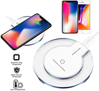 (2 pack) Fast Wireless Charger, Qi Wireless Charger Pad Compatible /8 Plus Samsung Note 8 S8/S8 Plus/S7/S7 Edge/S6 Univers...