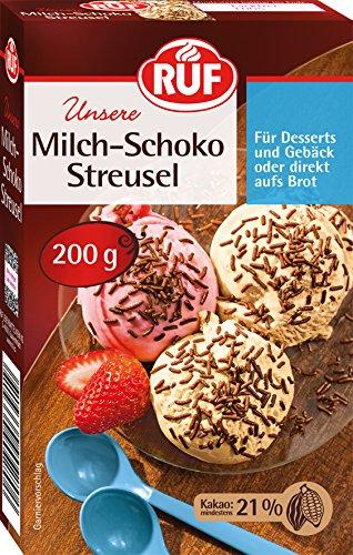RUF Milch-Schoko-Streusel direkt auf Brot oder für Dessert, Eis, Gebäck, 1 x 200g