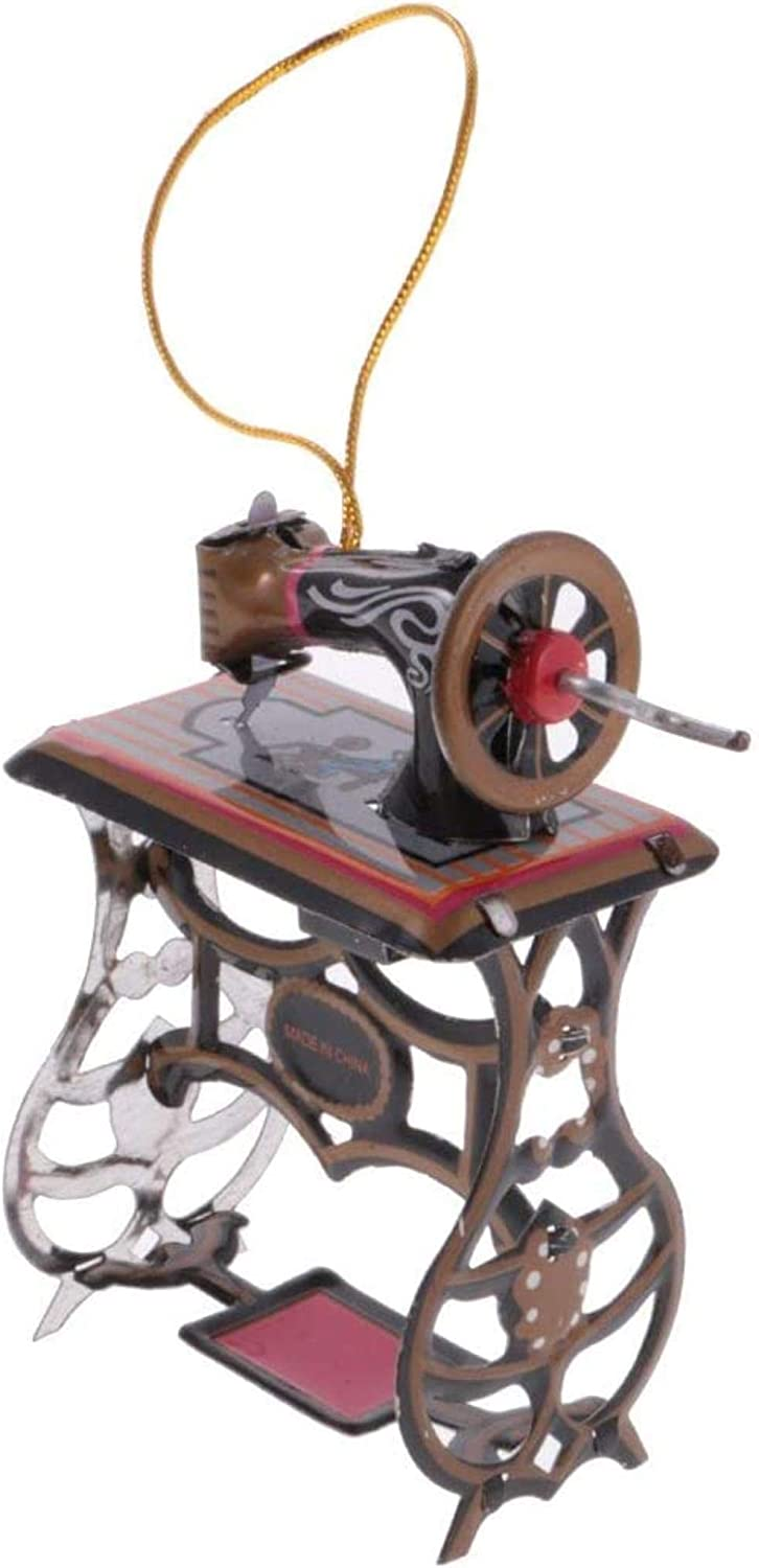 Bombing new work GLLP Toy Mini Sewing Oakland Mall Machine Gift Collectible Hang Tin Model
