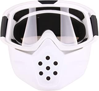 Aooaz Motorcycle Goggles Riding With Mask Shield Goggles
