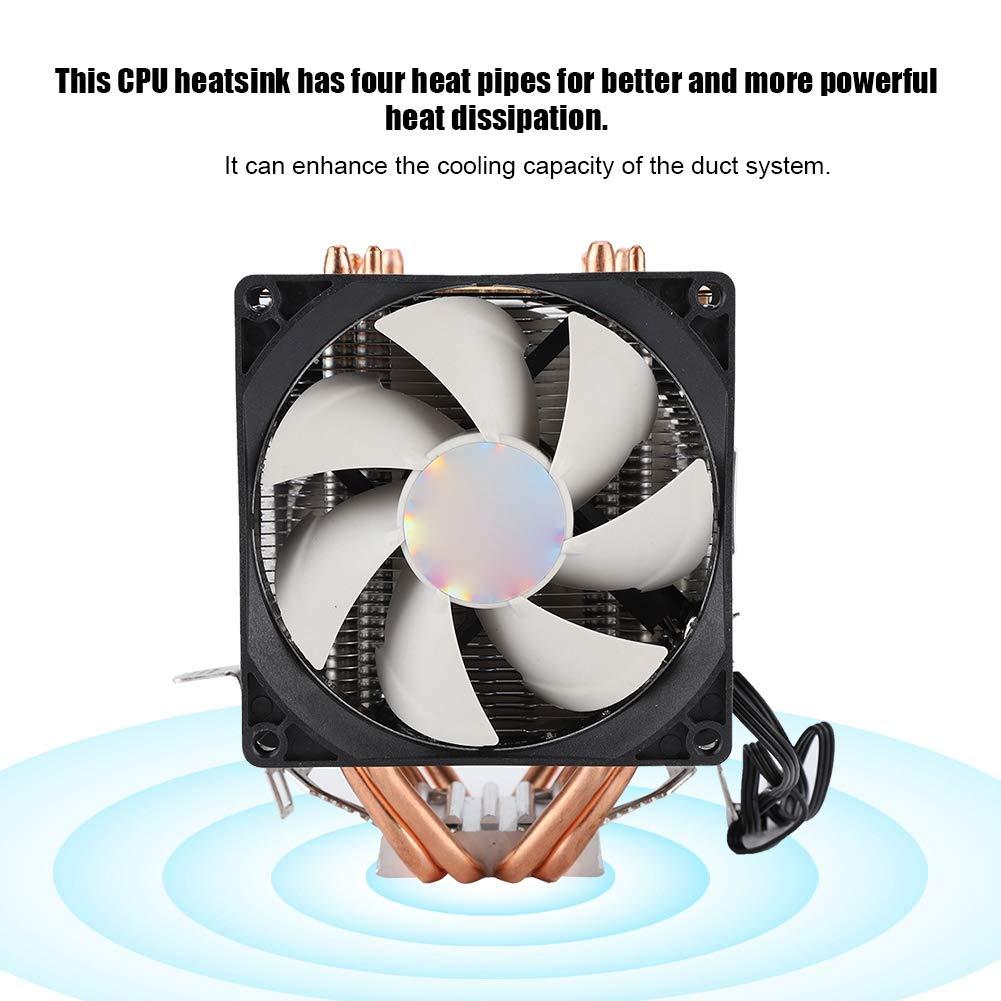 Diyeeni Enfriador de CPU RGB para computadora con 4 Heatpipes ...