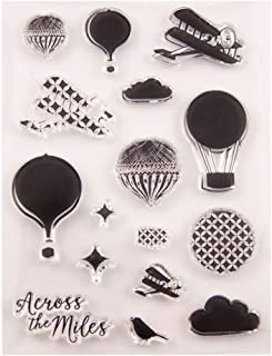 Sixinu Hot Air Balloon Silicone Clear Seal Stamp DIY Scrapbooking Embossing Photo Album Decorative Paper Card Craft Art Handmade Gift
