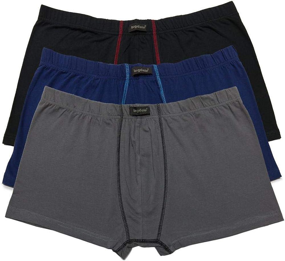 Bigdale Pack de 3 calzoncillos retro tallas grandes hasta 10 XL.
