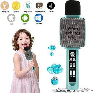 TSUN Kids Karaoke Machine,Wireless Portable Handheld Karaoke Microphone with Bluetooth Speaker,Echo,Voice Changer and Song Recorder,Best Karaoke Microphone for Kids,Top Birthday Gifts for Girls Boys