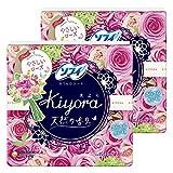 【まとめ買い】ソフィ Kiyora やさしいローズ 72コ入×2個パック(unicharm Sofy)
