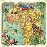 Home Collection Servietten (2er Set / 40Stück) 3-lagig 33x33cm Travel to Africa